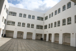 The courtyard of the school in Madaba