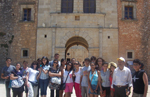 Jordanian students at the Holy Monastery of Arkadios