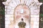 Η κρήνη στο σημείο που βρέθηκε η Ιερή εικόνα της Παναγίας Γαυριώτισσας